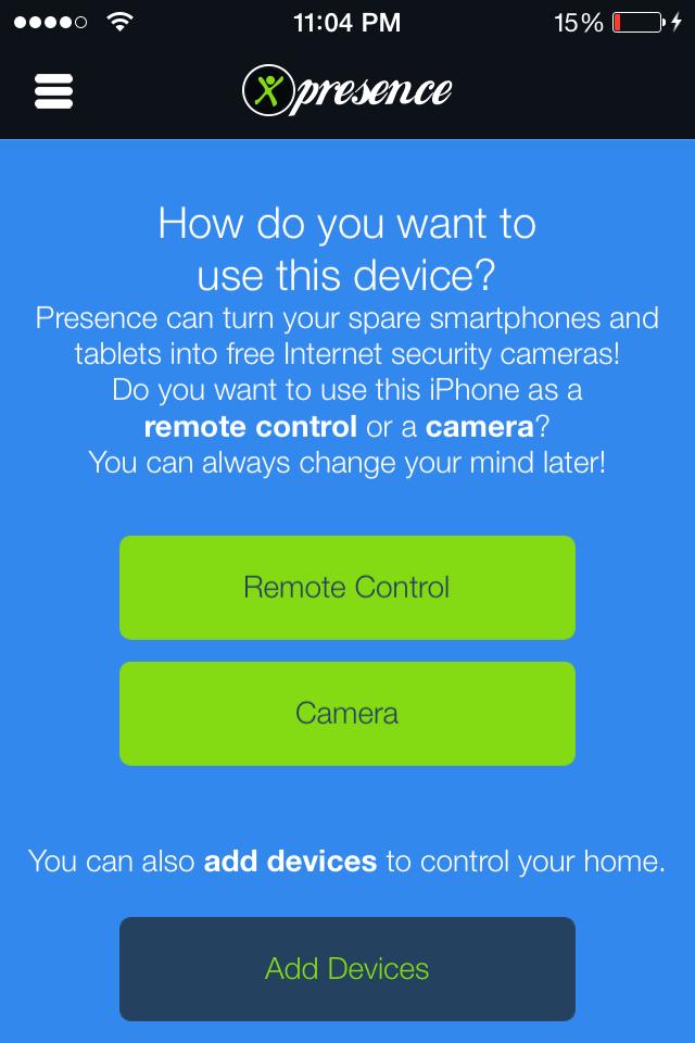 presence screenshot 2