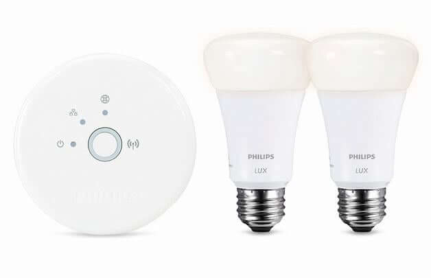 philips hue hub and two bulbs