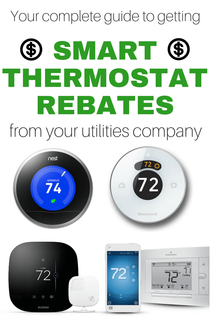 how to get a smart thermostat rebate