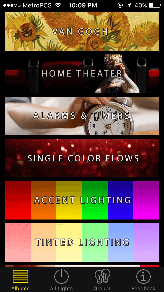 lifx and philips hue 3rd party apps
