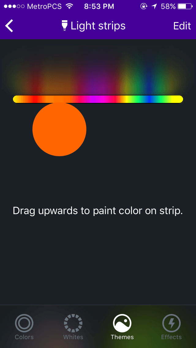 LIFX Z painting colors