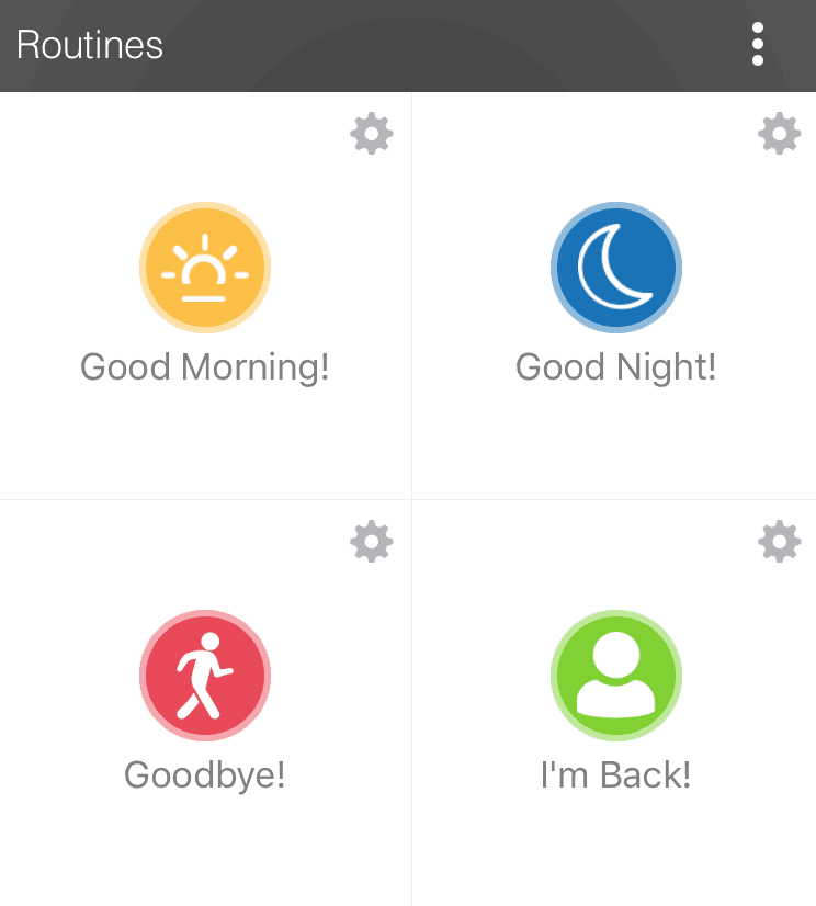 SmartThings routines