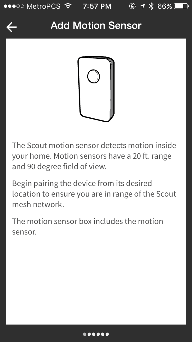 scout motion sensor set up