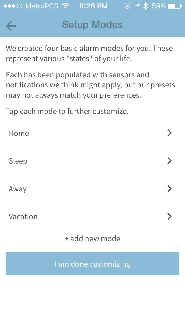 scout alarm modes