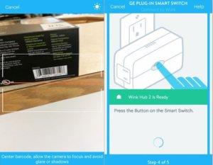 wink barcode scanner app setup