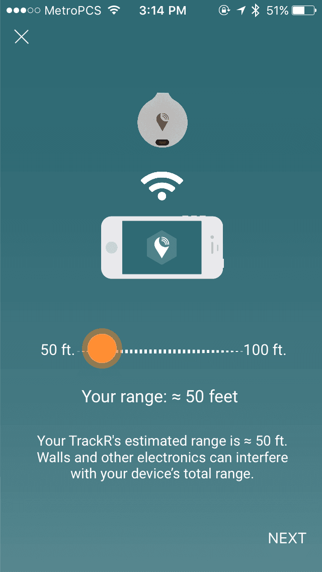 trackr app screenshot
