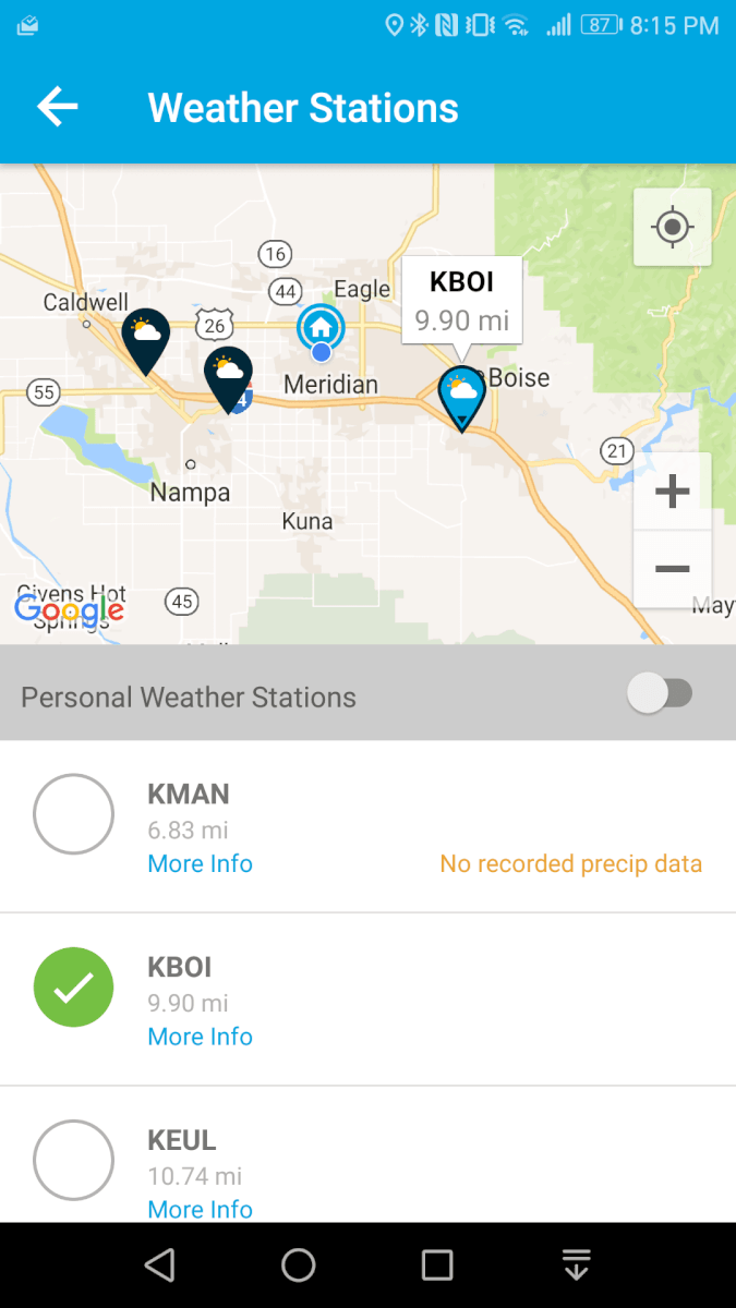 rachio weather app