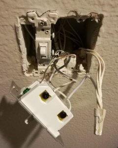 ge switch smart port lights