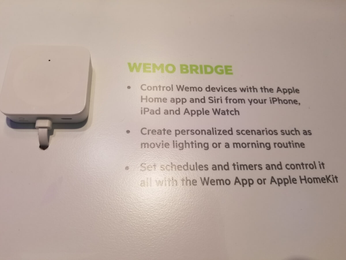 wemo bridge homekit