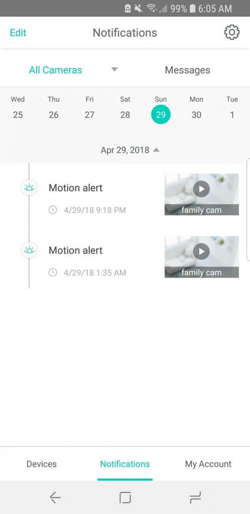 wyze cam app