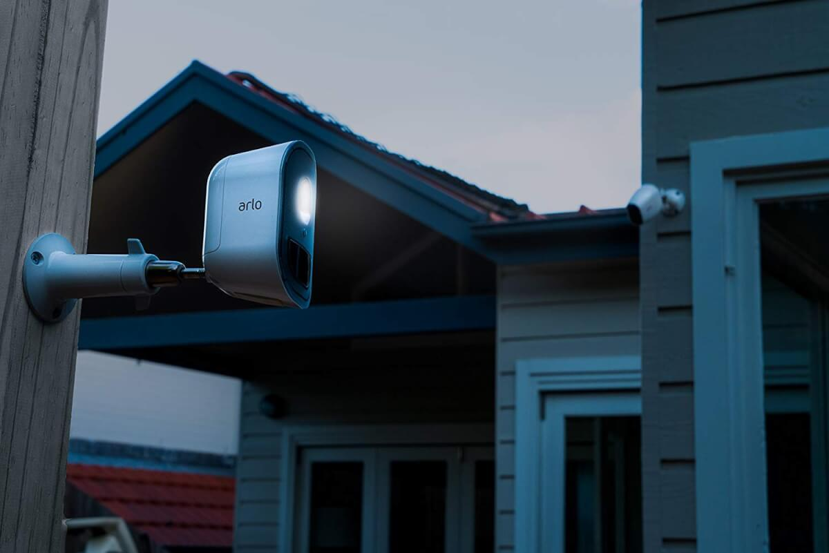 arlo security light on