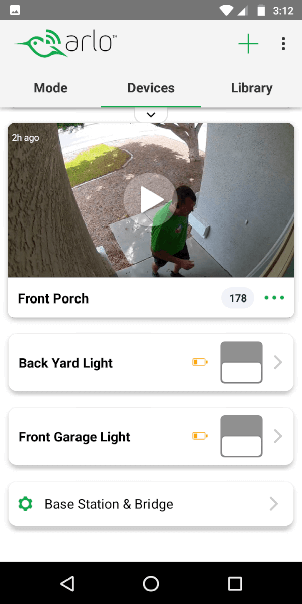 arlo security light app