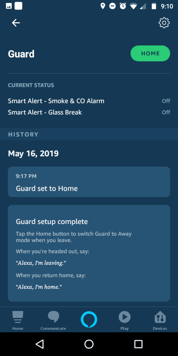 alexa guard screenshot