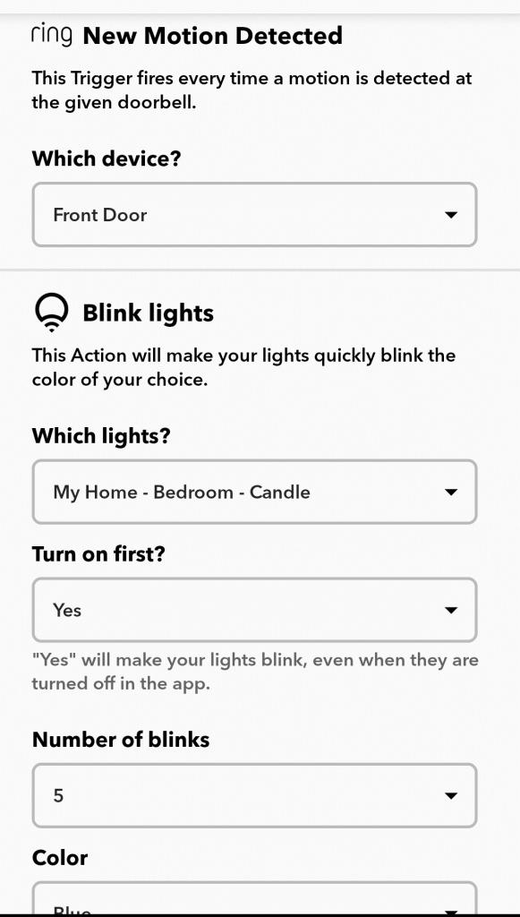 front door light notification